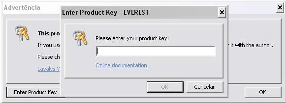 Insira aqui o código de entrada do Everest!