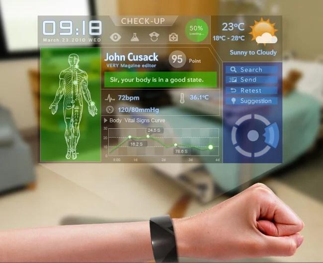 Que tal informações sobre sua saúde direto no pulso?.