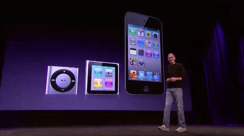 iPods atualizados.