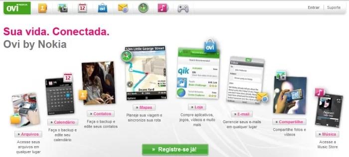 O Ovi, colocando a Nokia como concorrente de peso.