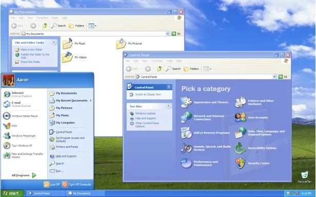 Interface Windows XP