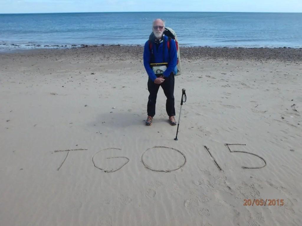 End of TGO 2015 - Stonehaven Beach, East Coast of Scotland.