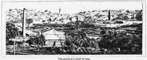 Vista general de Caspe en 1931, muy similar a la que disfrutaría Artieri