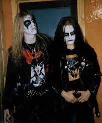 Dead y Euronymous cuando todavía vivían.