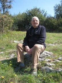 Paco Laroy en el lugar de la batalla
