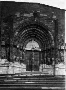 Portada de la iglesia de Caspe antes de 1936