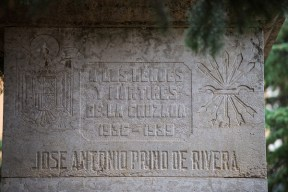 Inscripción en monumento plaza Ramón y Cajal