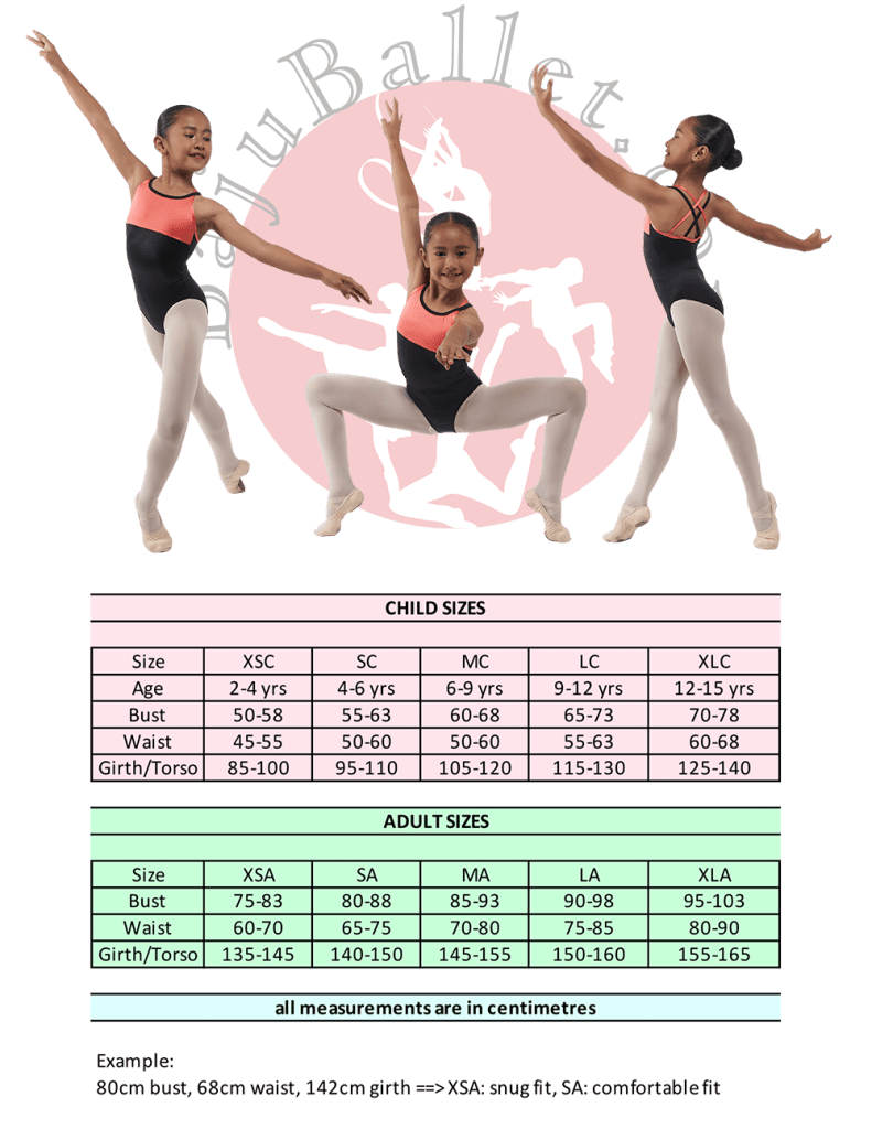 2019 Collection L30 Sizing Chart