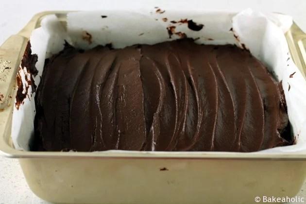 Banana Brownies with Chocolate Avocado Ganache // bakeaholic.ca