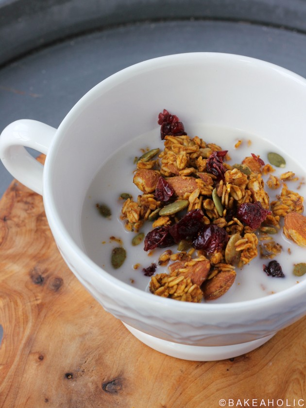 pumpkin spice granola alicia bakeaholic