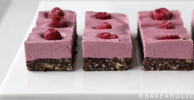 Raw Raspberry Slice // Bakeaholic.ca