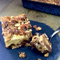 Pekannuss Kuchen mit Schokolade