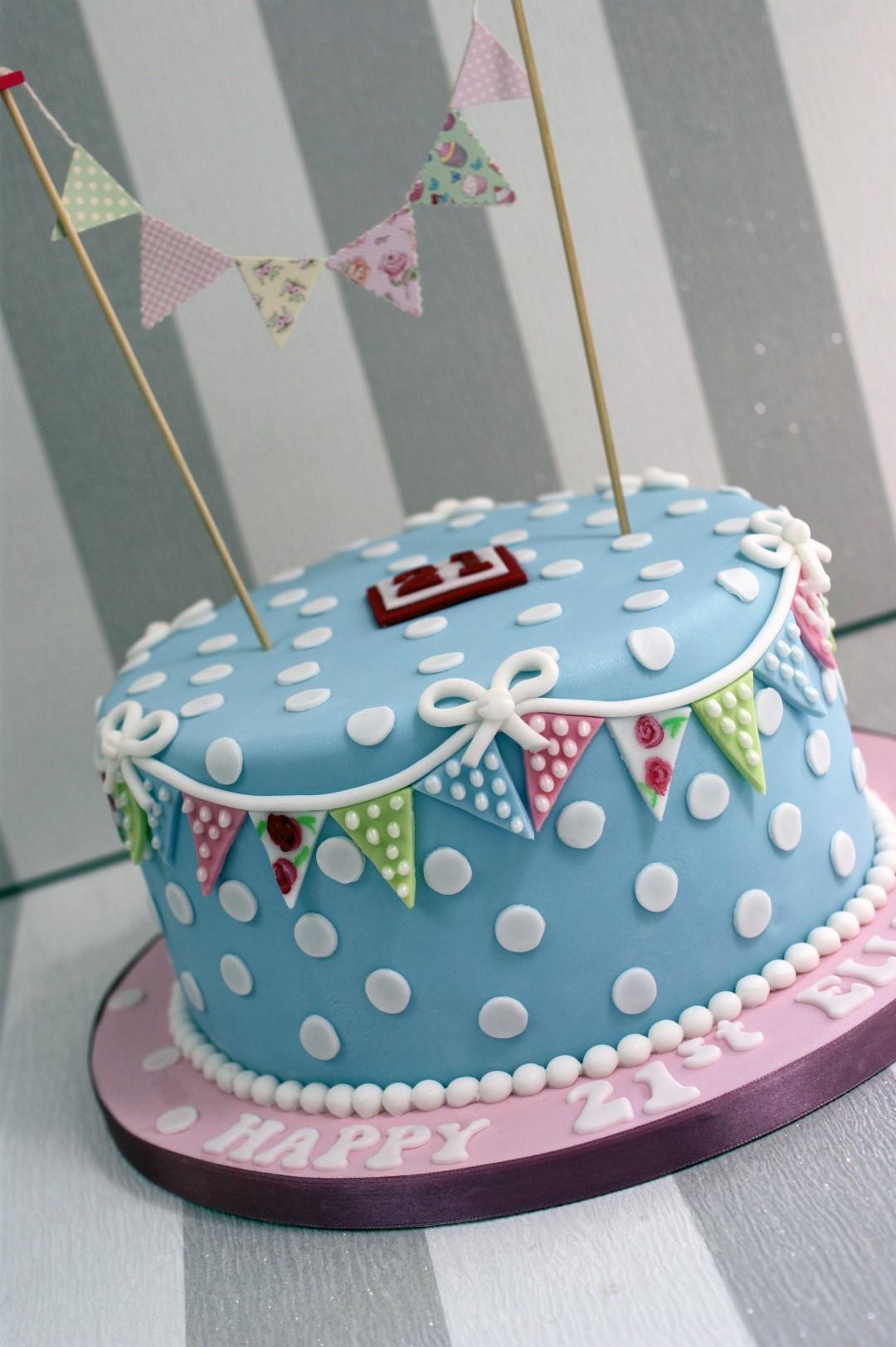 Cath Kidston Style 21st Birthday Cake