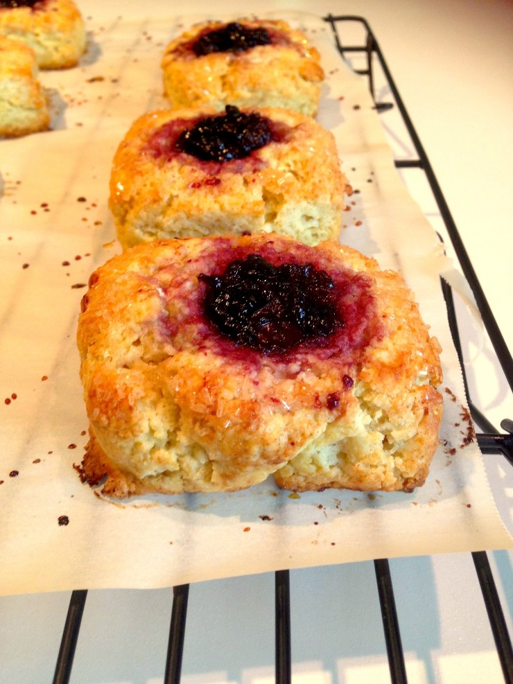 jam-filled cream scones