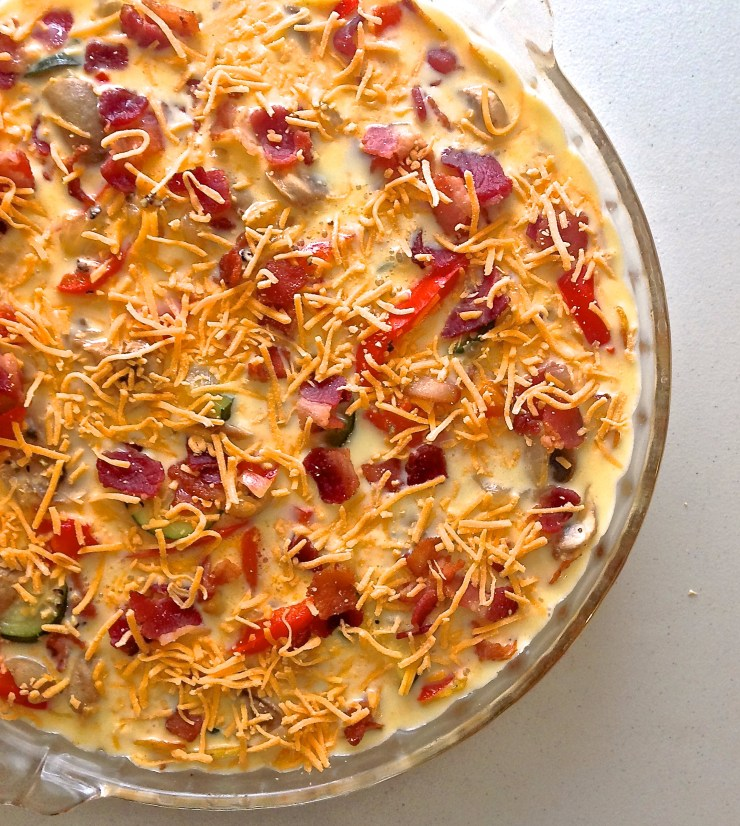 quiche topped with extra cheese