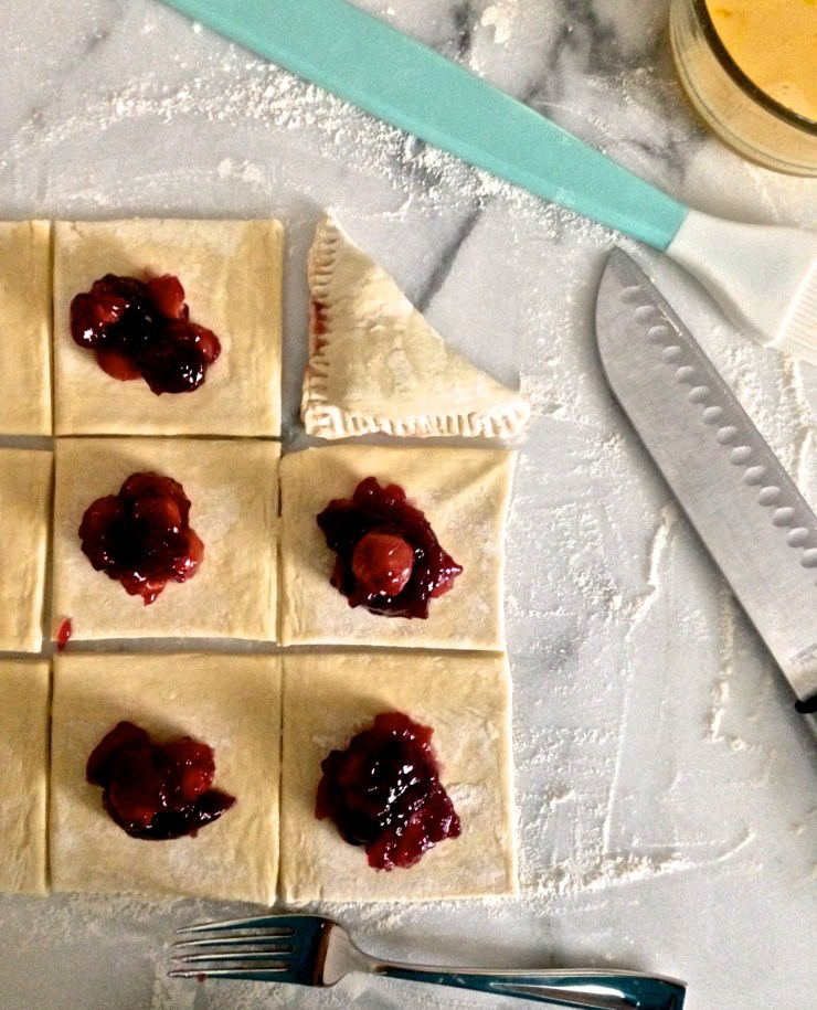 cherry turnovers - shaping
