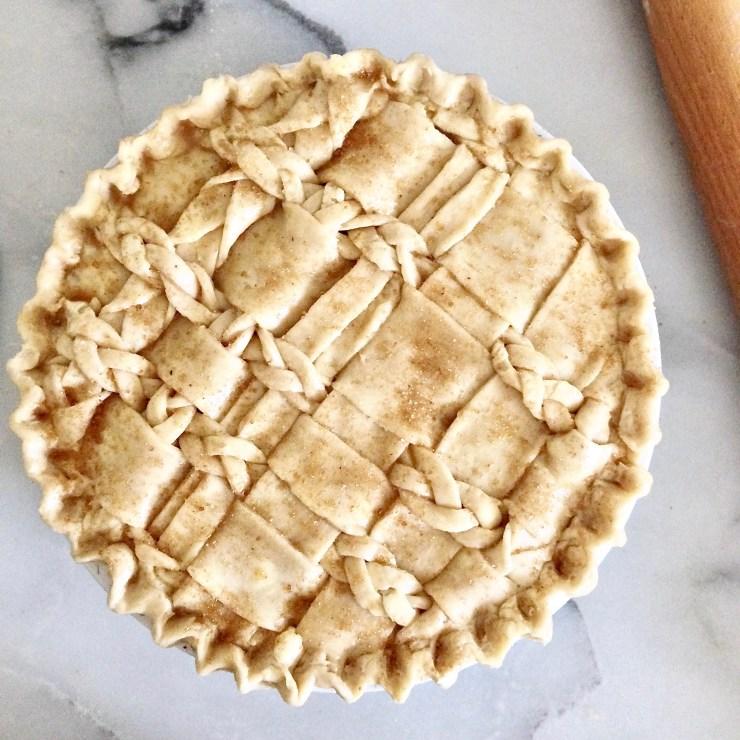 Bourbon Brown Sugar Peach Pie