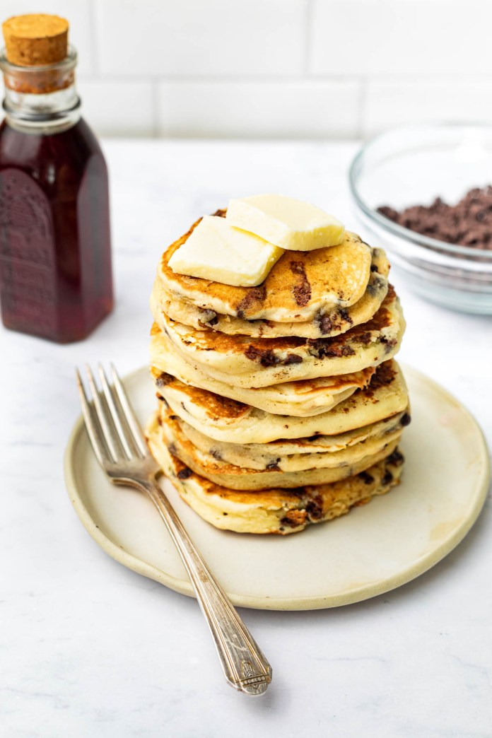 Buttermilk Chocolate Chip Pancakes Baked