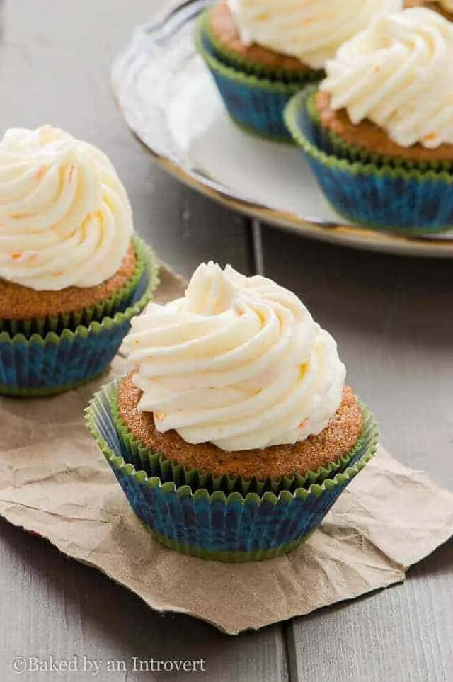 Gingerbread Cupcakes with Orange Mascarpone Frosting