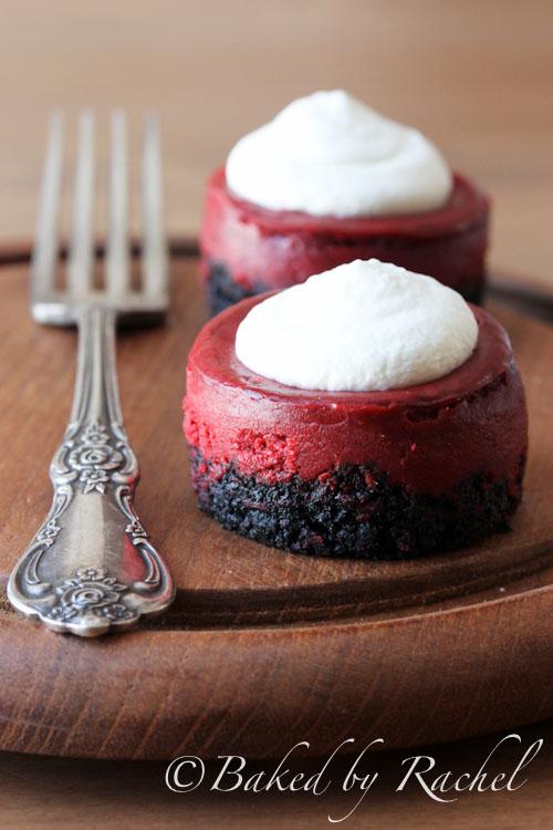 Mini Red Velvet Cheesecakes
