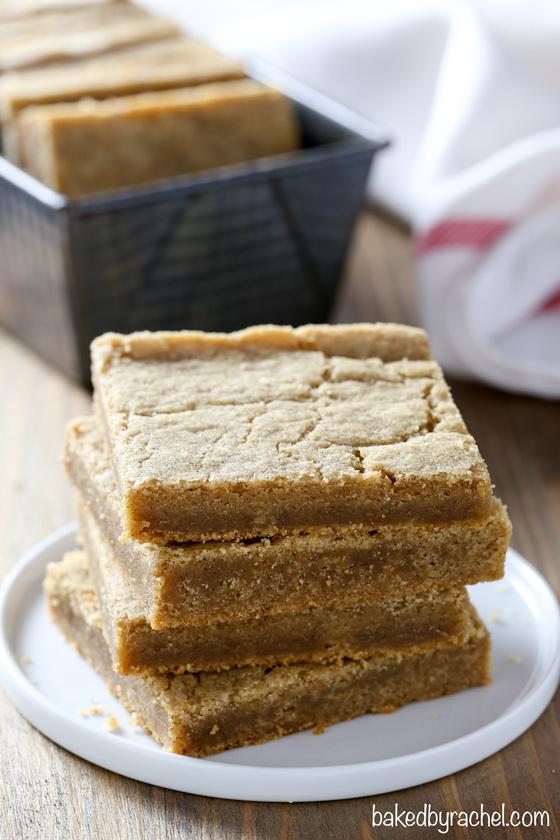 Baked by Rachel » Gingerbread Molasses Blondie Bars