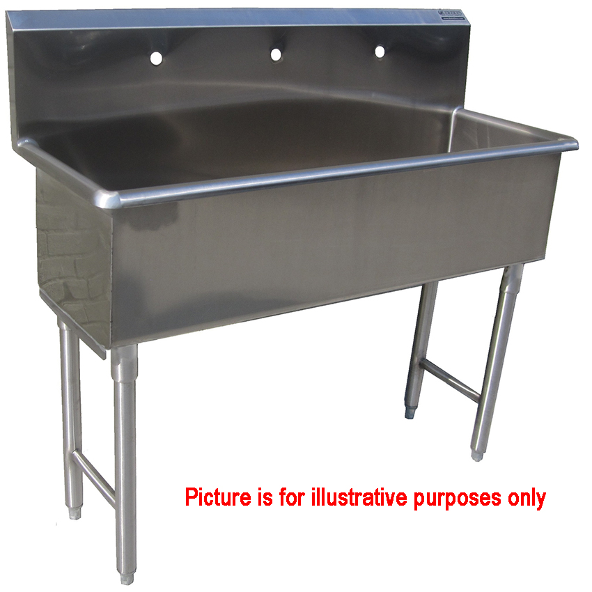 custom made commercial hand sink stainless steel 5 feet wide