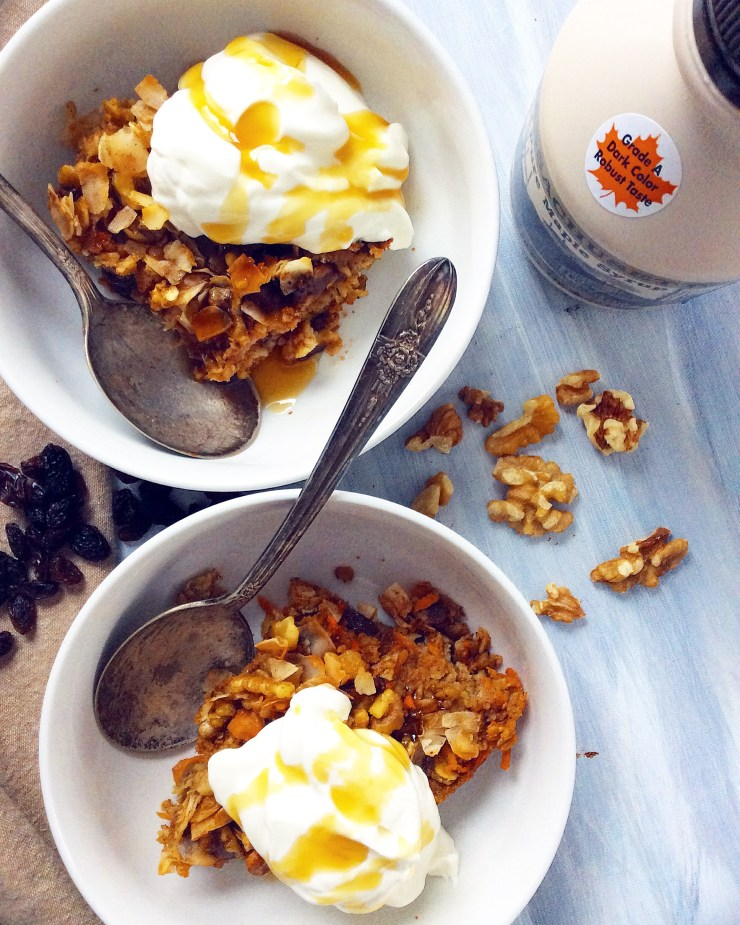 Healthy Carrot Cake Baked Oatmeal