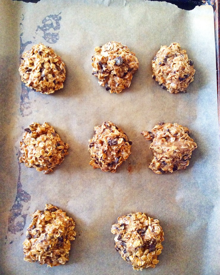 Chocolate Chunk Banana Walnut Breakfast Cookies