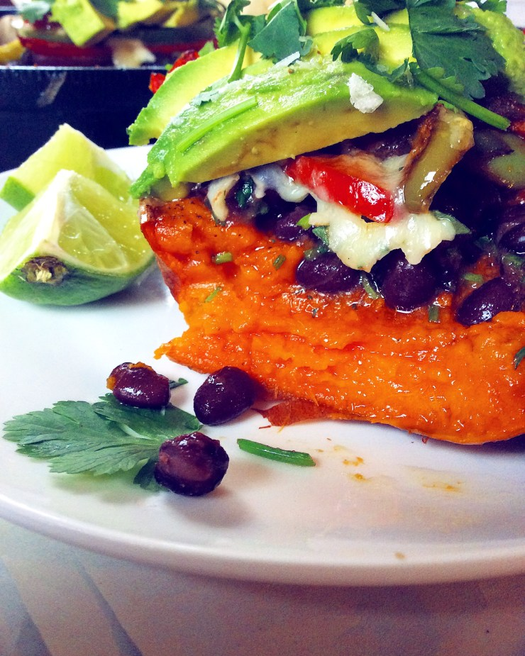 Fajita-Stuffed Sweet Potatoes
