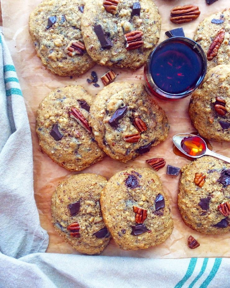 Maple Pecan Chocolate Chunk Cookies