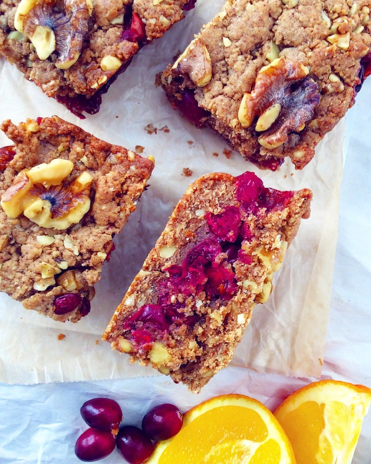 Cranberry Walnut Crumb Bars
