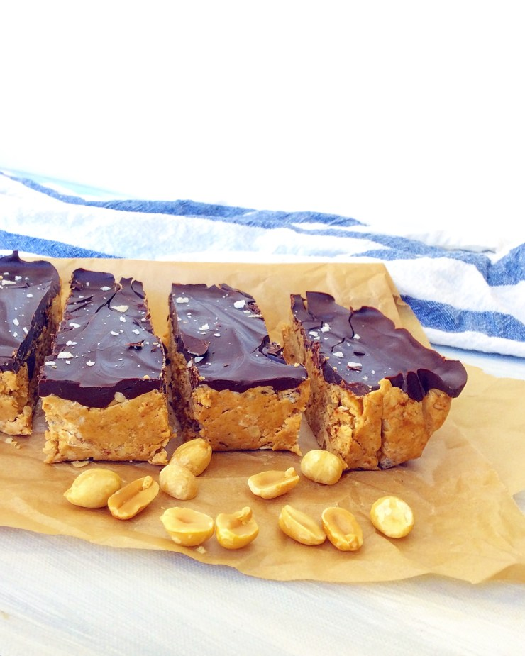 Peanut Butter Cup Protein Bars