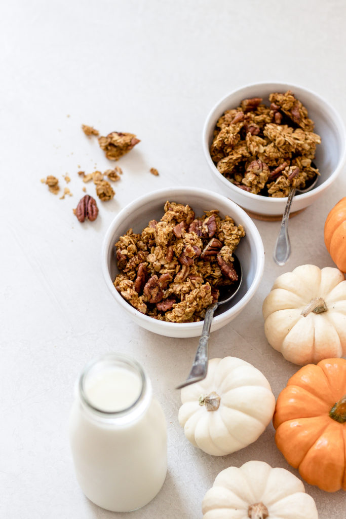 Pumpkin Spice Granola Maple Syrup Sweetened Baked Greens