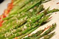 Roasted Asparagus and Cherry Tomatoes with Garlic and Parmesan Recipe