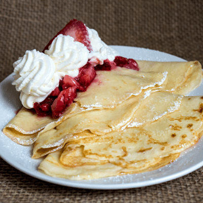 Strawberry Buttermilk Crepes