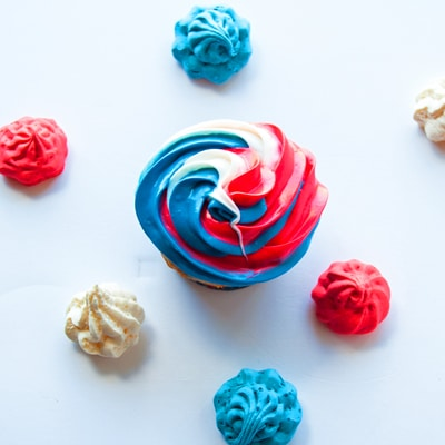 Red White N Blue Vanilla Funfetti Cupcakes, BakeItWithLove.com