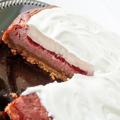 White Chocolate Raspberry Jello Cake