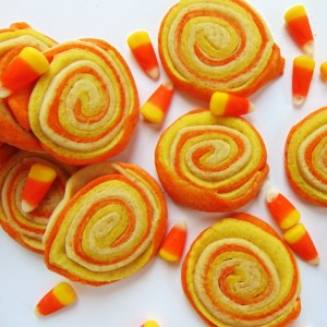 Candy Corn Sugar Cookie Pinwheels at Bake It With Love, www.bakeitwithlove.com