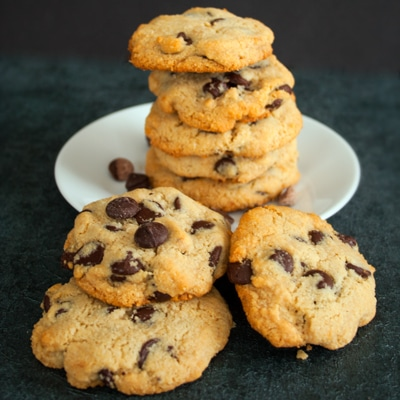 Paleo Chocolate Chip Cookies at Delectable, www.delectablecookingandbaking.com