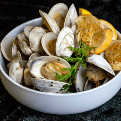 Wine Steamed Clams