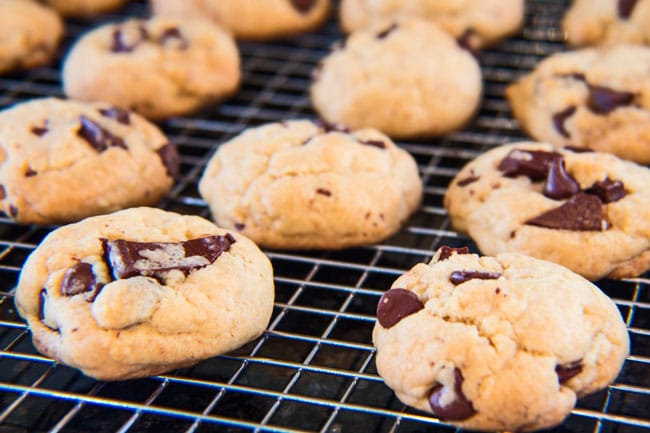 Right out of the oven and absolutely delicious! These perfect soft batch chocolate chip cookies are family favorite!