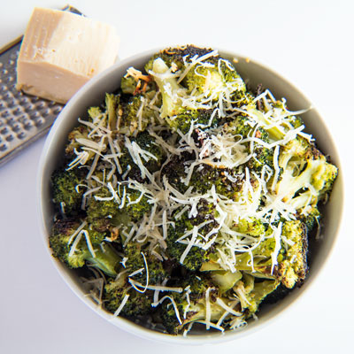 Roasted Broccoli with Garlic and Parmesan is an easy side dish that brings out the best flavors of your broccoli!