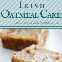 Old Fashioned Irish Oatmeal Cake with Caramel Pecan Frosting is a super moist cake baked to perfection with the perfect, easy stovetop caramel sauce frosting!