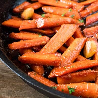 Skillet Brown Sugar Glazed Carrots