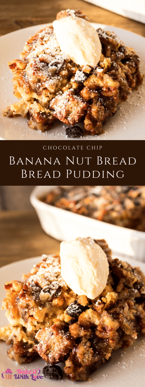 Chocolate Chip Banana Bread Bread Pudding
