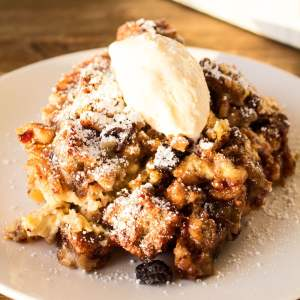 Chocolate Chip Banana Bread Bread Pudding