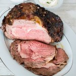 Horseradish Roasted Garlic Crusted Prime Rib Roast is a flavorful combination for the most perfectly roasted Christmas prime rib dinner