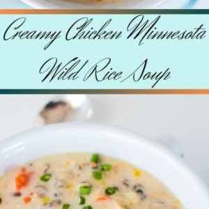 Creamy Chicken Minnesota Wild Rice Soup is a bowlful of deliciousness, brimming with tasty flavors