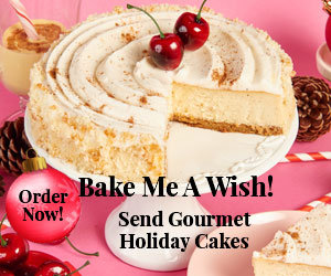 Send holiday gifts, holiday cake delivery, Bake Me A Wish!