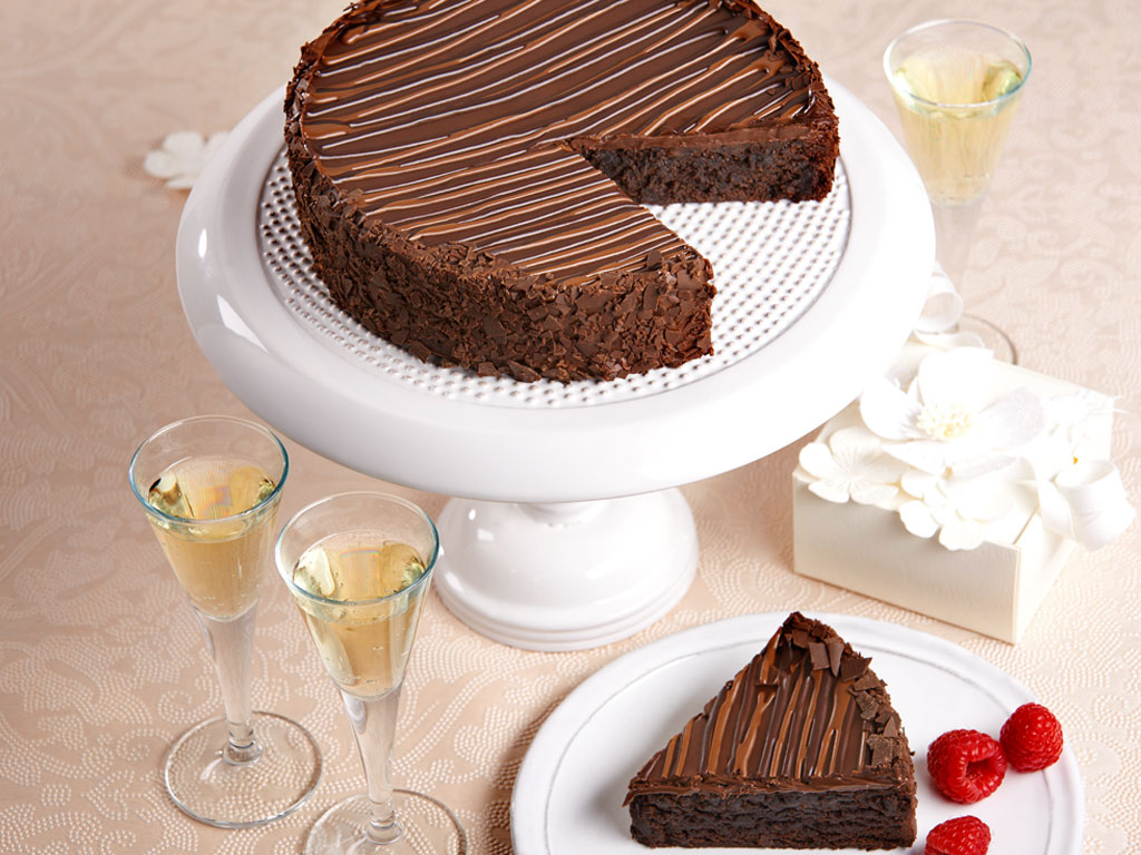 Bake Me A Wish Triple Chocolate Enrobed Brownie Cake Delivery